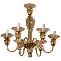 Murano Clear Glass Chandelier