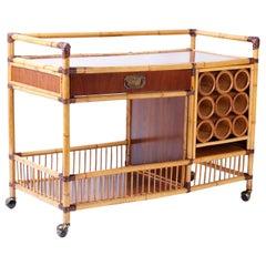 Bamboo Bar or Serving Cart