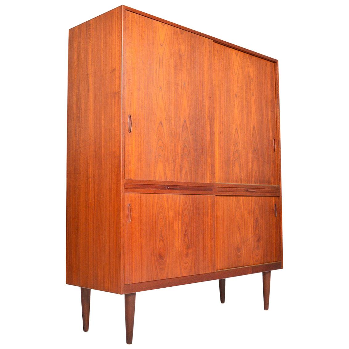 Danish Modern Teak Sliding Door Cupboard Bureau  sc 1 st  1stDibs & Antique and Vintage Cupboards - 1539 For Sale at 1stdibs