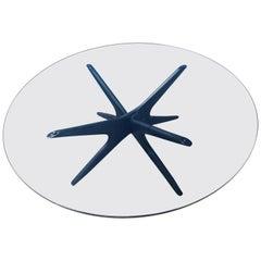 Wonderful Adrian Pearsall Ebonized Round Jax Coffee Table, Mid-Century Modern