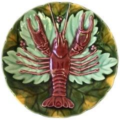 Majolica Crawfish Plate Schutz Cilli, circa 1900