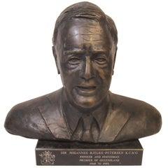 Bronze Bust, Australian Politician, Sir Johannes Bjelke-Petersen, KCMG