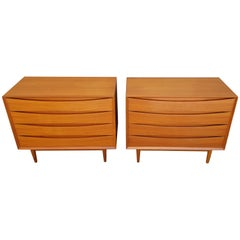 Pair of Teak Danish Modern Dressers by Arne Vodder for Sibast
