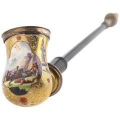 Porcelain Baroque Pipe, Meissen, circa 1725