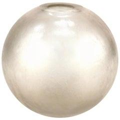 Orrefors Swedish Midcentury Iridescent Globular Glass Vase
