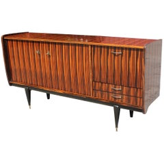 Beautiful French Art Deco Exotic Macassar Bony Sideboard / Buffet, circa 1940s