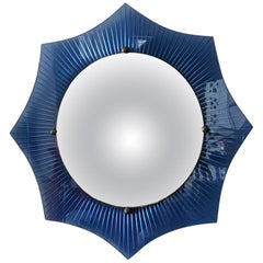 Unusual Art Deco Convex Mirror, circa 1930s