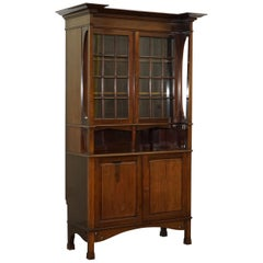 Stunning Liberty's of London Arts & Crafts Carved Bookcase Cabinet Dresser