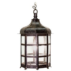 Arts & Crafts Patinated Metal Lantern