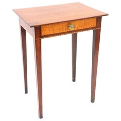 Connecticut Hepplewhite Cherry Side Table with Inlay