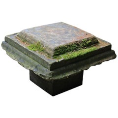 Large York Stone Garden Table Feature, 1800s