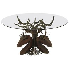 Studio Steel Sculpture Deer Trio Dining Table