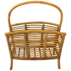 Wicker Rattan Bamboo Magazine Rack