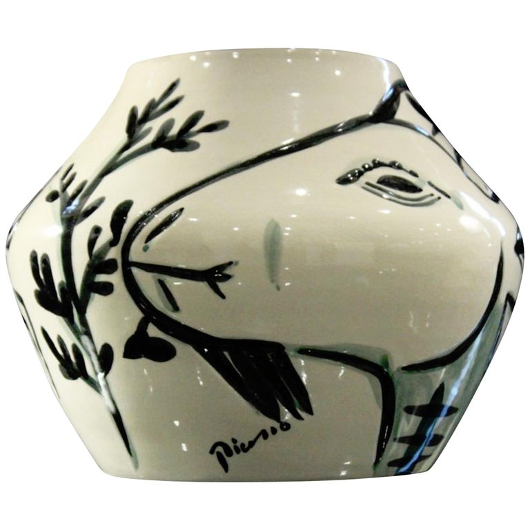 Stamped Edition Picasso Vase Aux Chvres A R 156 At 1stdibs