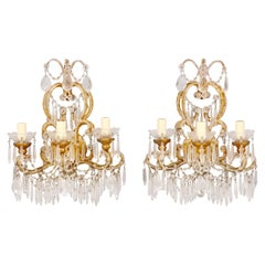 Italian Crystal Beaded Sconces