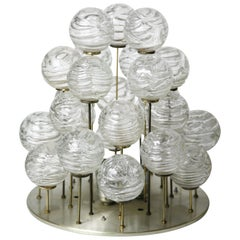 Doria glass ball Flush Mount, Germany, 1960