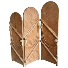 Rattan Three-Panel Folding Screen After Tony Duquette