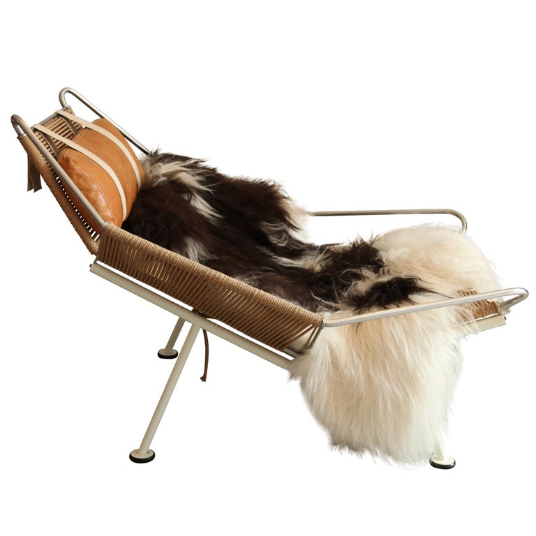 Hans Wegner, Flag Halyard Lounge Chair, circa 1950 For Sale