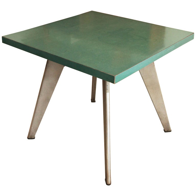 "Jean Prouvé, Aluminum ""Cafeteria"" Table, circa 1953 For Sale"