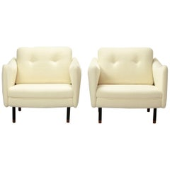 Pair of Teckel Armchairs by Michel Mortier for Steiner, Early 1960s