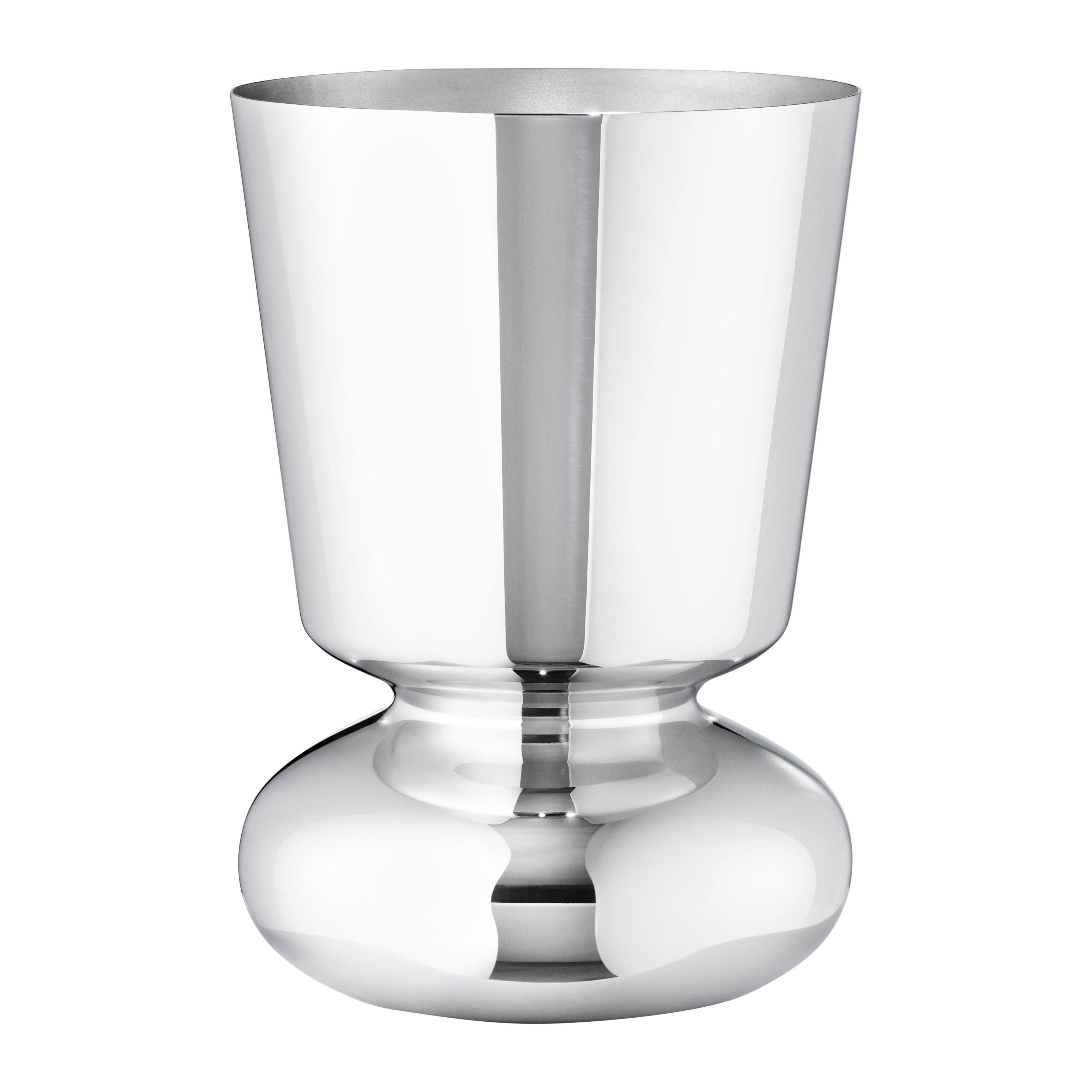 Georg Jensen Alfredo Small Vase in Stainless Steel Finish by Alfredo Häberli