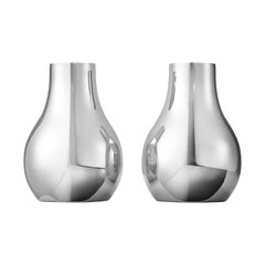 Georg Jensen Cafu Small Candleholders in Stainless Steel by Holmback Nordentoft