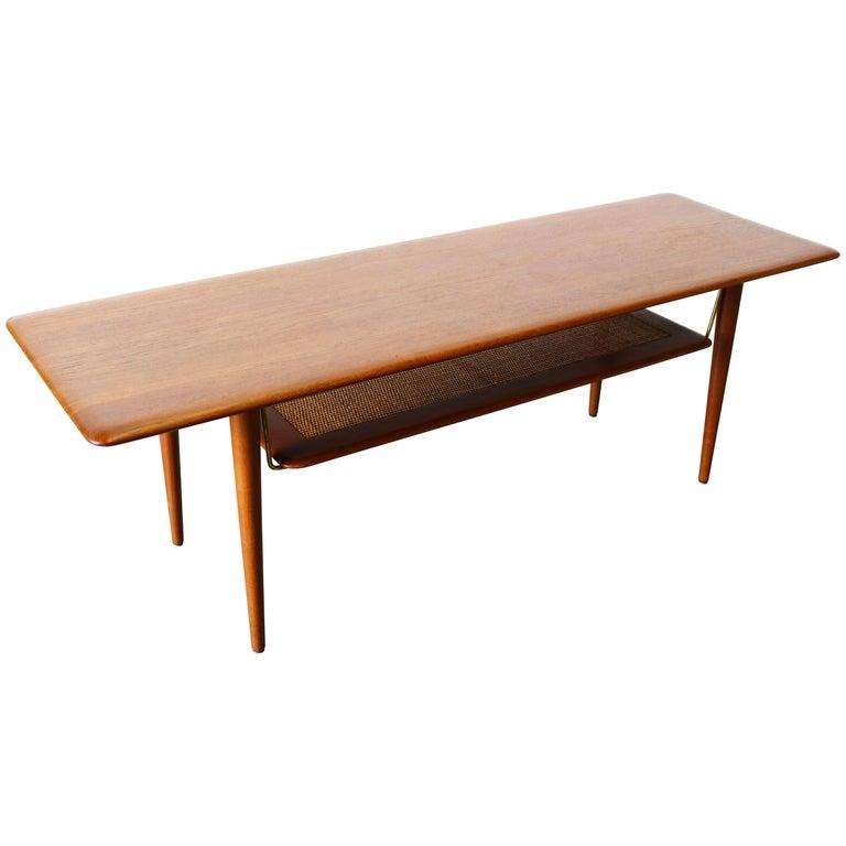 Peter Hvidt & Orla Mølgaard Nielsen Coffee Table FD 516 Teak France & Son 1956 For Sale