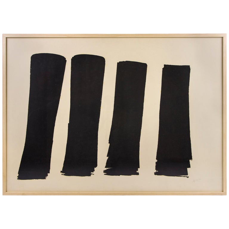 Modernist Abstract Painting by Albert Chubac, France, circa 1950