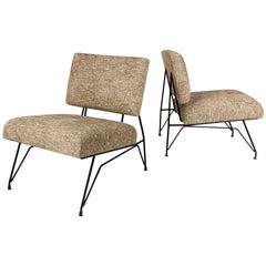 Pair of Ico Parisi Slipper Chairs, France, circa 1950