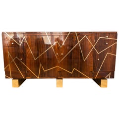 Amazing Sideboard, Rosewood, France, circa 1950