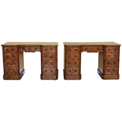 Pair of 19th Century Victorian Burr Walnut Desks