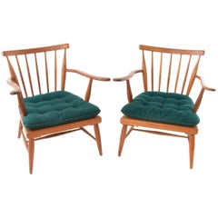 Up To Two Wooden Mid-Century Armchairs by Anna-Lülja Praun, Austria, 1950s