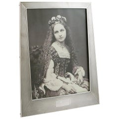 1924 Antique Sterling Silver Photograph Frame
