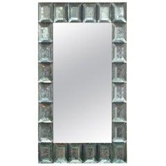 Large Acqua Green Murano Glass Mirror