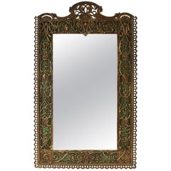 Ornate Wall Mirror in the Manner of Oscar Bach