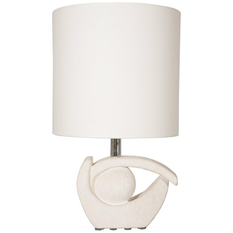 Limestone Table Lamp by Albert Tormos