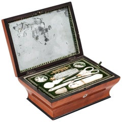 Palais Royal Mulberry Sewing Box 19th Century