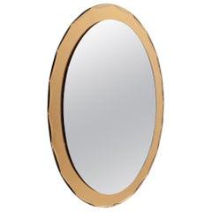 Italian Midcentury Colored Mirror, 1970s