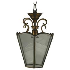Italian Beveled Glass Italian Lantern