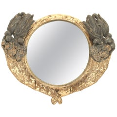American Country Rustic Victorian Weathered Wall Mirror