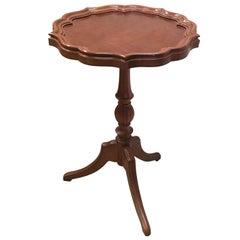 20th Century George III Style Piecrust Wine Table
