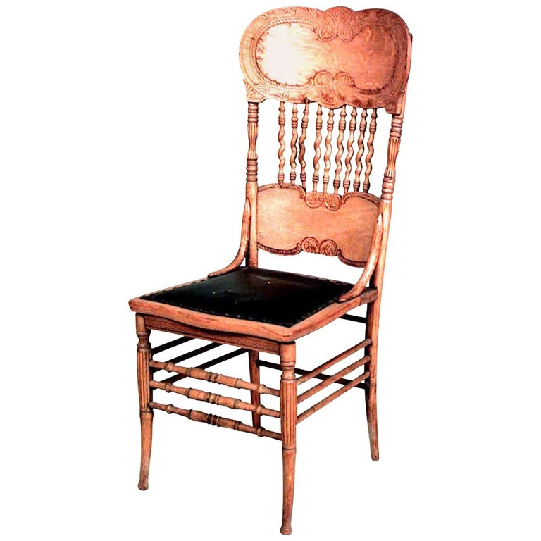 American Victorian Stripped Oak Side Chairs
