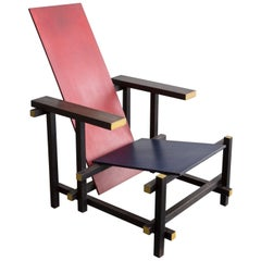 Red Blue Chair Designed by Gerrit Rietveld, 1919