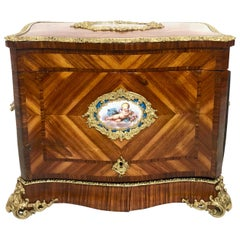 """Antique French Kingwood and Rosewood """"Cave à Liqueur"""", circa 1860-1870"""