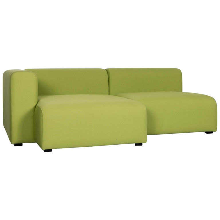 Hay Mags Designer Fabric Sofa Green Corner Couch For