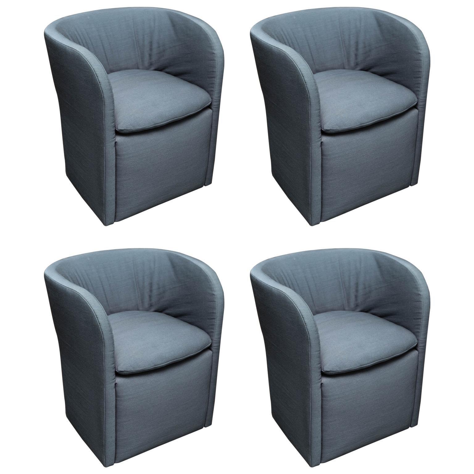 Set Of 4 John Saladino For Dunbar Chairs For Sale