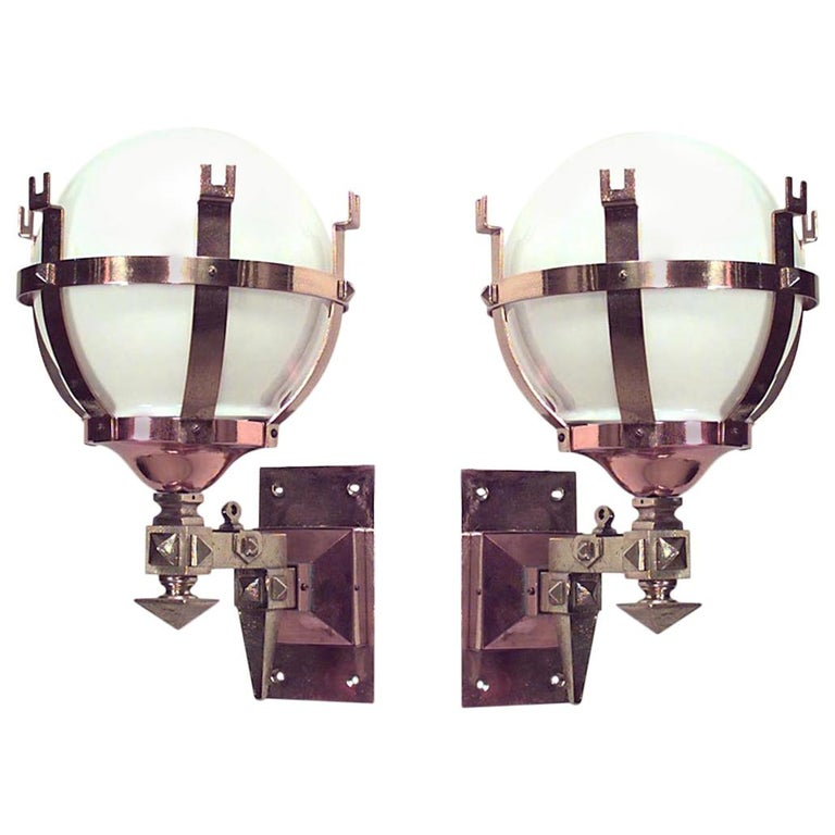 4 Mission Style Wall Sconces At 1stdibs
