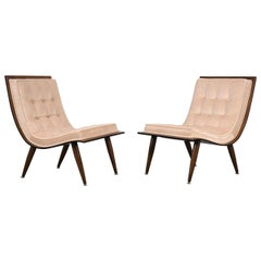 Pair of Mid-Century Modern Scoop Chairs