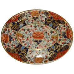 19th Century Royal Crown Derby Porcelain Imari Plate