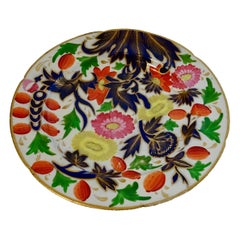 19th Century Porcelain Plate with Decorative Floral Design
